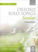 Cover for Oxford Solo Songs: Secular - 9780193556805