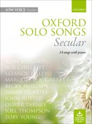 Cover for Oxford Solo Songs: Secular - 9780193556812