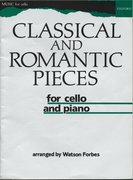 Cover for Classical and Romantic Pieces for Cello