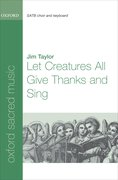 Cover for Let Creatures All Give Thanks and Sing