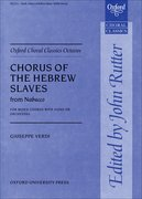 Cover for Chorus of the Hebrew Slaves from <i>Nabucco</i>