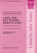 Cover for Lord, for thy tender mercy