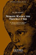 Cover for Nobody knows the trouble I see