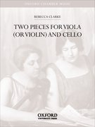 Cover for Two Pieces for viola (or violin) and cello