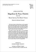 Cover for Magnificat and Nunc Dimittis from the Short Service