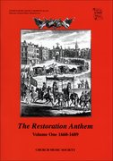The Restoration Anthem Volume 1 1660-1689