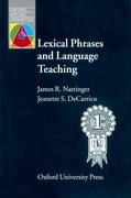 Cover for Lexical Phrases and Language Teaching