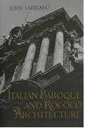 Cover for Italian Baroque and Rococo Architecture