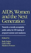 Cover for AIDS, Women, and the Next Generation
