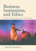 Cover for Business, Institutions, and Ethics