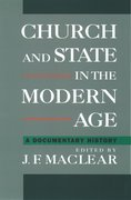 Cover for Church and State in the Modern Age