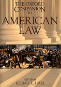 Cover for The Oxford Companion to American Law