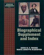 Cover for Biographical Supplement and Index