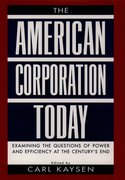 Cover for The American Corporation Today