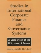 Studies in International Corporate Finance and Governance Systems A Comparison of the US, Japan, and Europe
