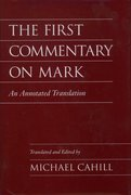 Cover for The First Commentary on Mark