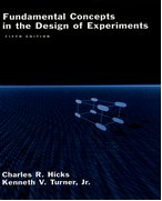Cover for Fundamental Concepts in the Design of Experiments