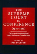 Cover for The Supreme Court in Conference (1940-1985)
