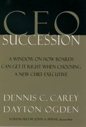 Cover for CEO Succession