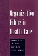 Cover for Organization Ethics in Health Care