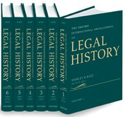 Cover for The Oxford International Encyclopedia of Legal History