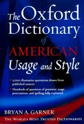 Cover for The Oxford Dictionary of American Usage and Style
