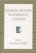 Cover for Modern Women Playwrights of Europe