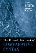 Cover for The Oxford Handbook of Comparative Syntax
