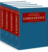 Cover for International Encyclopedia of Linguistics