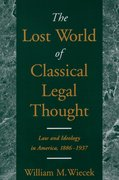 Cover for The Lost World of Classical Legal Thought