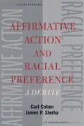 Cover for Affirmative Action and Racial Preference