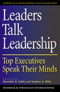 Cover for Leaders Talk Leadership