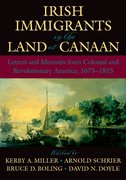 Cover for Irish Immigrants in the Land of Canaan