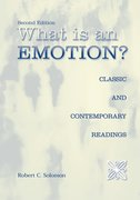 Cover for What Is an Emotion?