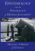 Cover for Epistemology and the Psychology of Human Judgment