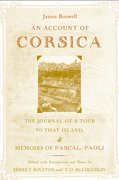 Cover for An Account of Corsica, the Journal of a Tour to That Island; and Memoirs of Pascal Paoli