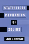 Cover for Statistical Mechanics of Solids