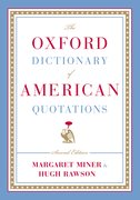 Cover for The Oxford Dictionary of American Quotations