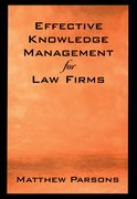 Cover for Effective Knowledge Management for Law Firms