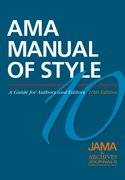 AMA Manual of Style A Guide for Authors and Editors