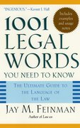Cover for 1001 Legal Words You Need to Know