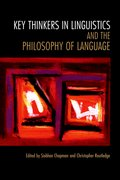 Cover for Key Thinkers in Linguistics and the Philosophy of Language