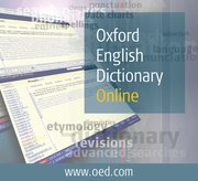 Cover for Oxford English Dictionary Online - 9780195216813
