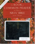 Cover for 1979 Book of Common Prayer (RCL edition) and the New Revised Standard Version Bible with Apocrypha, black