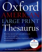 Cover for The Oxford American Large Print Thesaurus