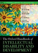 Cover for The Oxford Handbook of Intellectual Disability and Development