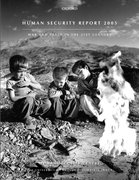 Cover for Human Security Report 2005