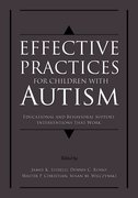 Cover for Effective Practices for Children with Autism