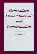 Cover for Generalized Musical Intervals and Transformations