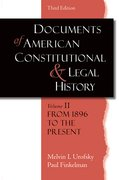 Cover for Documents of American Constitutional and Legal History